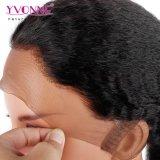 Peluca delantera rizada de 360 cordones del pelo humano de la peluca del cordón de la peluca suiza brasileña del frente derecho