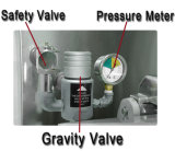 Sartén profunda eléctrica de la presión de gas del penique de Mdxz-25 Henny