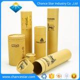 Impreso personalizado Eco tubos de cartón de papel Kraft marrón