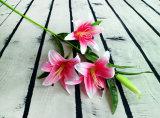 Boa qualidade de moda Lily para casa Decoração de flores artificiais