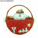 Più nuovo cestino del Babbo Natale della decorazione di Buon Natale