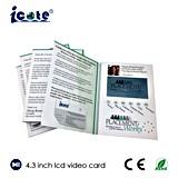 Карточка LCD размера A4 видео- с 4.3 дюймами для Pharma и медицинского соревнования