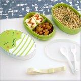 Nahrungsmittelbehälter PlastikBento Mittagessen-Kasten mit Gabel und Löffel 20027