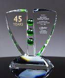 Lugar público Customization troféu de cristal para aviso de marca