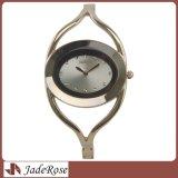 Вахта браслета кварца способа, серебряные овальные wristwatches платья для повелительницы