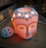 Insieme capo del bruciatore a nafta del Buddha, lampada elettrica del bruciatore a nafta del materiale di ceramica