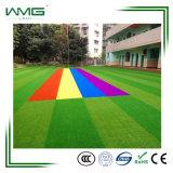 Wm, das Rasen für Schule landschaftlich verschönert