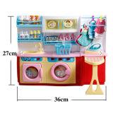 La mini machine à laver en plastique d'appareils feignent des jouets de jeu