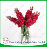 Flor artificial Larkspur Delphinium Ajacis Poisonweed Violeta Flor