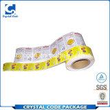 Étiquette de papier adhésive claire et distinctive de collant