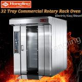 Nuovo disegno 16 32 forno di gas rotativo della cremagliera dei 64 cassetti per la fabbrica del pane