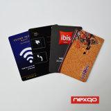 Faible prix plastique PVC de couleur CMJN Miwa Système de verrouillage de carte à puce RFID