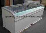 Congelador Cdif-750 do console com o supermercado 750L Refrigerated