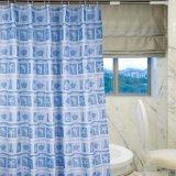 Eco-Friendly 100%Polyester делают занавес водостотьким ливня ванной комнаты (18S0067)