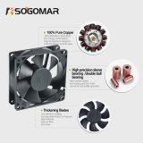 Las hojas de plástico de ventilación refrigeración Ventilador Axial de DC (SF8025)