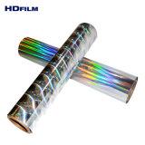 25mic 25um transparente de 25 micras Holograhic BOPP película de cine de arco iris
