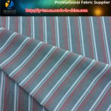 Tissu de polyester velours lavés en fils teints Stripe