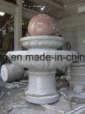 Fontana di acqua girante intagliata mano elegante classica della sfera del granito rosso