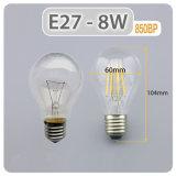 Lámpara de ahorro de energía de la luz de incandescencia E27 4W 6W regulable de 8W Bombilla LED