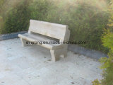 Granit-grauer Steinstuhl/Prüftisch mit Rückseite für Garden&Park
