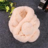 冬の方法女性女性のカスタム擬似ウサギの毛皮のスカーフ