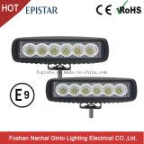 Barra chiara Epistar Emark LED del lavoro fuori strada di prezzi giusti 18W (GT1012-18W)