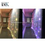 El centelleo de LED RGB Lgihts cortina de estrellas como telón de fondo para la boda la decoración