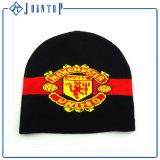 Дешевые акриловый красным и белым полосатым Beanie Red Hat