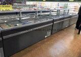 Congelador do console do supermercado de R404A, congelador comercial da caixa do indicador