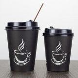 Venta caliente Popular 8oz vaso de papel tapas de plástico para bebida