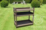 Al Frame PE Wicker Patio Outdoor Furniture speciaal onderhoudswagentje
