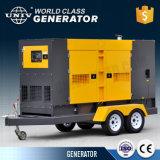 Готов к использованию 100КВА два колеса тип прицепа дизельный генератор