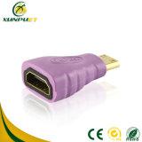 24/26/28/30AWG携帯用金によってめっきされる女性女性HDMIアダプター
