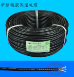 Das 3 Kern-temperaturbeständige schwarze Silikon konservierte kupferne Kabel