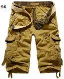 Was van de Kleurstof van de Broek 100%Cotton van mensen de Korte voor de Zomer Sy -5820