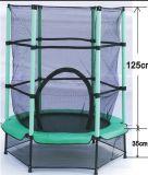 Mini cama elástica con red de seguridad de juguetes de interior