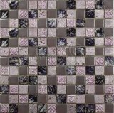 Porcelain and Crystal Glass Mosaic Tile (M8PCB65)