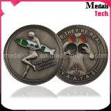 Монетки эмали высокого качества изготовленный на заказ оптовые античные бронзовые мягкие