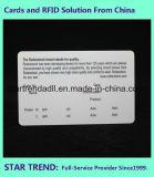 Cartão médico do PVC do cartão com a assinatura para o hospital