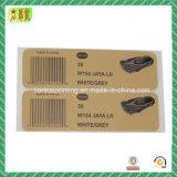 Papel y etiquetas adhesivas impresas de plástico