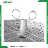 4 Fußboden-versah die Stellung drehender Metallausstellungsstand mit Seiten