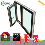 Doppia finestra nera lustrata australiana della stoffa per tendine di standard UPVC