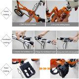 36V 전기 자전거 리튬 건전지를 가진 전기 자전거를 접히는 14 인치