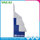 Piso de exposições dobrada personalizado papel suporte da tela de segurança