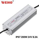 200W 12V 24V AC/DC imprägniern LED-Stromversorgung