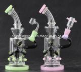 Neuer Farben-innerer Trinkwasserbrunnen-Schlaufen-Stutzen-Glaswasser-Rohr für das Rauchen
