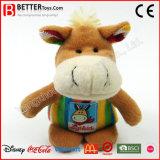 Brinquedo material seguro do cavalo do bebê do luxuoso do animal enchido