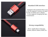 Кабель данным по Sync заряжателя USB цветастого нейлона Braided