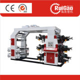 Impressora Flexographic automática de seis cores para a película plástica, saco de papel