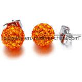 Acero quirúrgico Joyería Cristal 6mm 8mm 10mm pendientes de bola de cristal